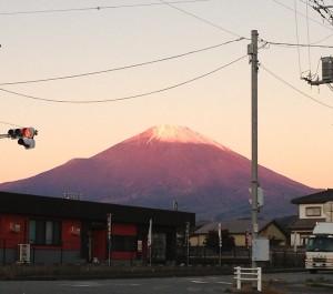 朝焼け富士山