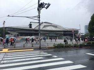 雨の大会当日